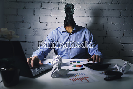 burnout syndrome at work concept exhausted