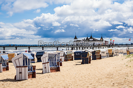 pier and beach chairs in ahlbeck