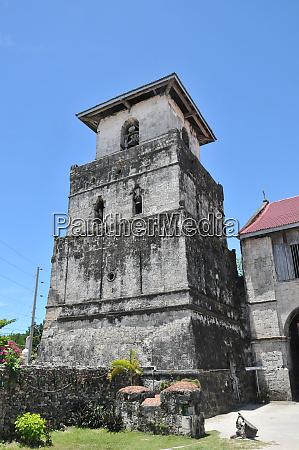 church tower of baclayon church on
