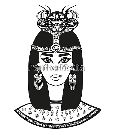 portrait of the beautiful egyptian woman
