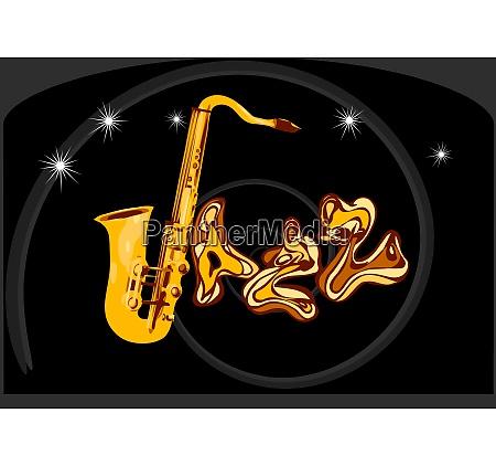 jazz inscription on black