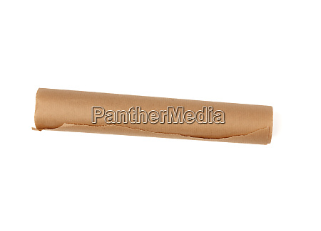 twisted roll of brown parchment paper