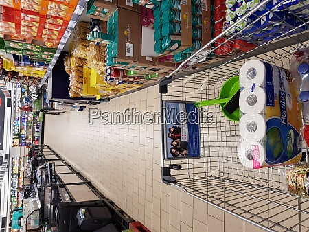 shopping in a supermarket