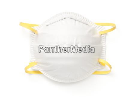 respiratory protection mask isolated on white