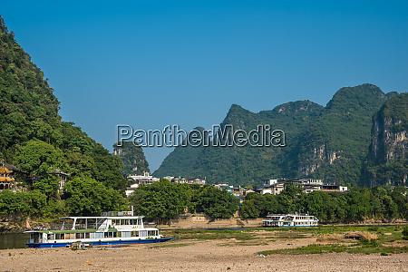 beautiful scenery along li river in