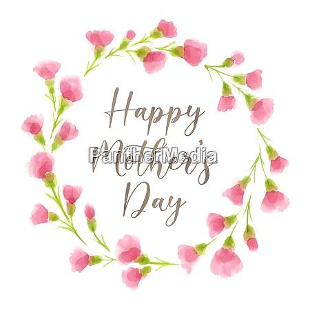 happy mothers day floral wreath with