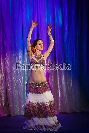 dancer dancing belly dance on a