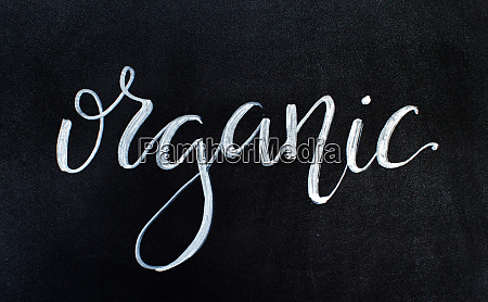 chalkboard, with, organic, lettering - 28196487