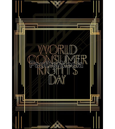 golden decorative world consumer rights day