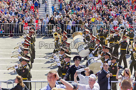 russian military orchestra march at the