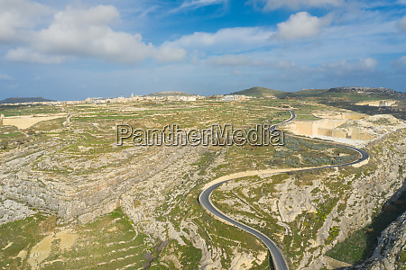 aerial view of sanap cliffs gozo