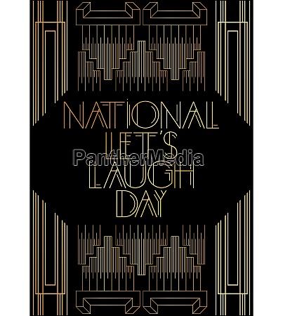 golden decorative national lets laugh day