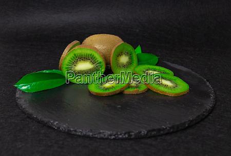 slate plate kiwi plate kiwi green