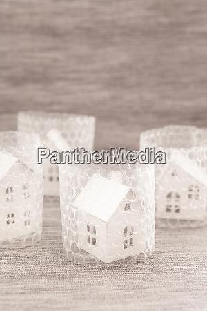 little house in bubble wrap