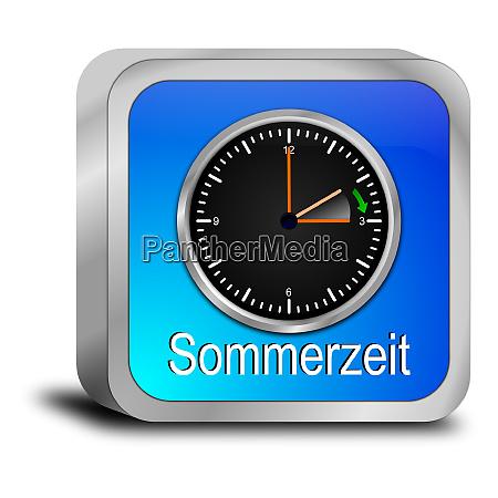 blue daylight saving time button