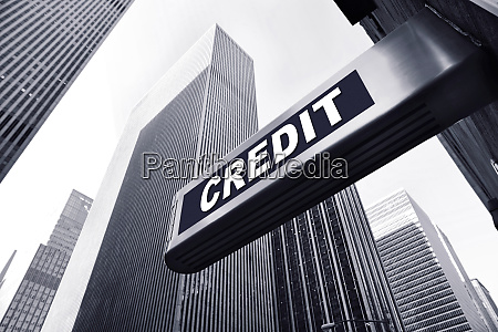 office building with a credit