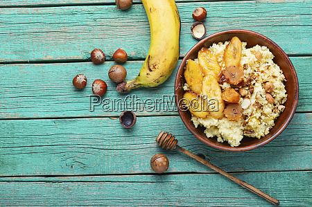 healthy breakfast millet porridge