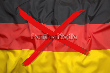 crossed out flag of germany curfew