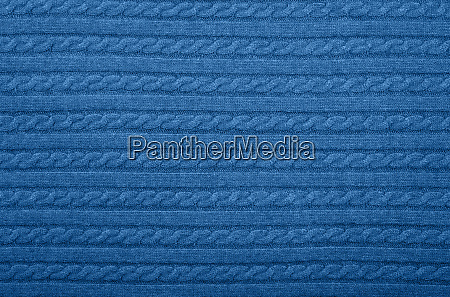 background texture of blue knitted wool