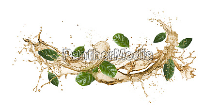 tea wave splashing
