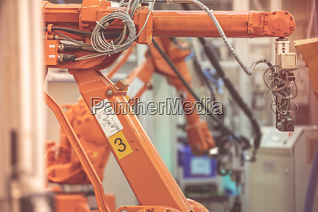 robots in a factory for precision