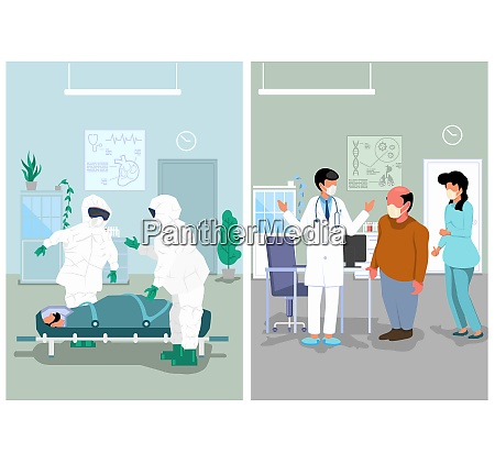 medical illustration of doctors office and