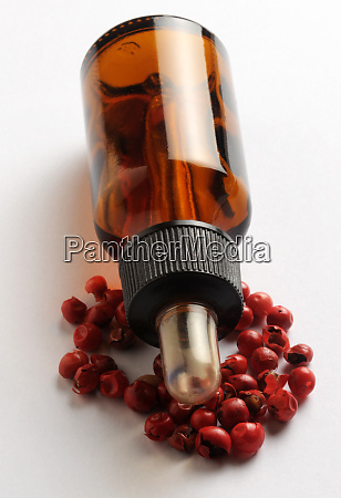 bottle of red peppercorn concentrate