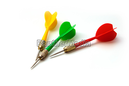 red green and yellow colored dart