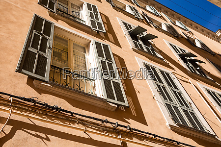 houses with large windows in bastia