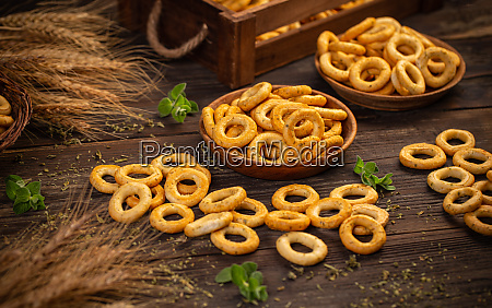 still life of pretzel rings
