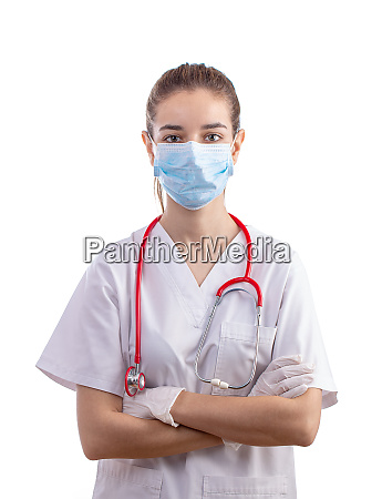young woman medical professional nurse