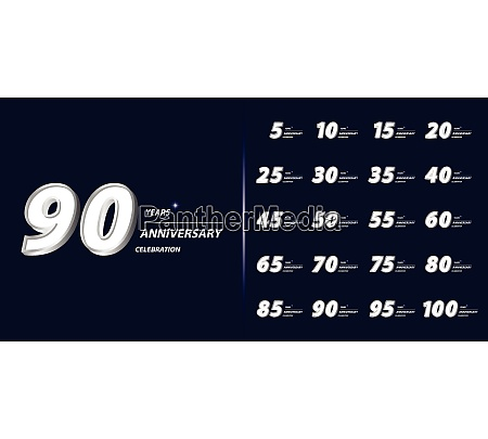set of anniversary logotype premium anniversary