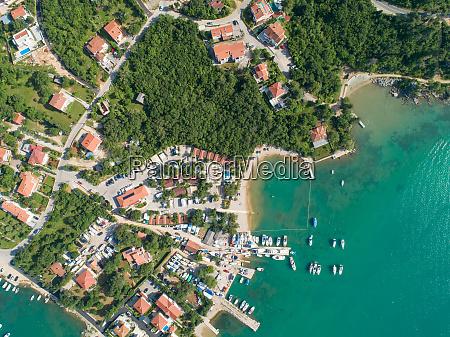 aerial view of klimno croatia