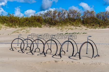 several bike rack