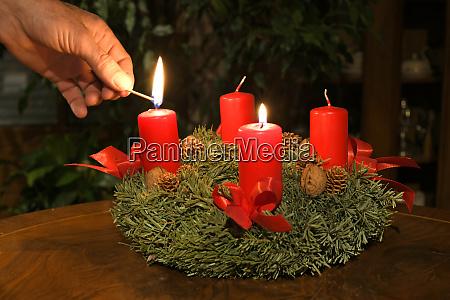 adventkranz in OEsterreich advent wreath