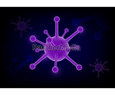 coronavirus covid 2019 on purple futuristic