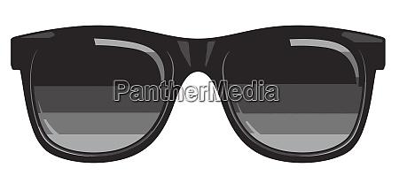 black sunglasses fashion accessory illustration