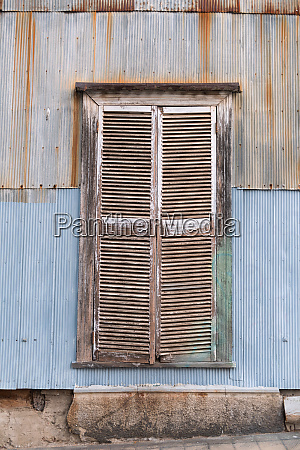 nice window with old weathered wooden