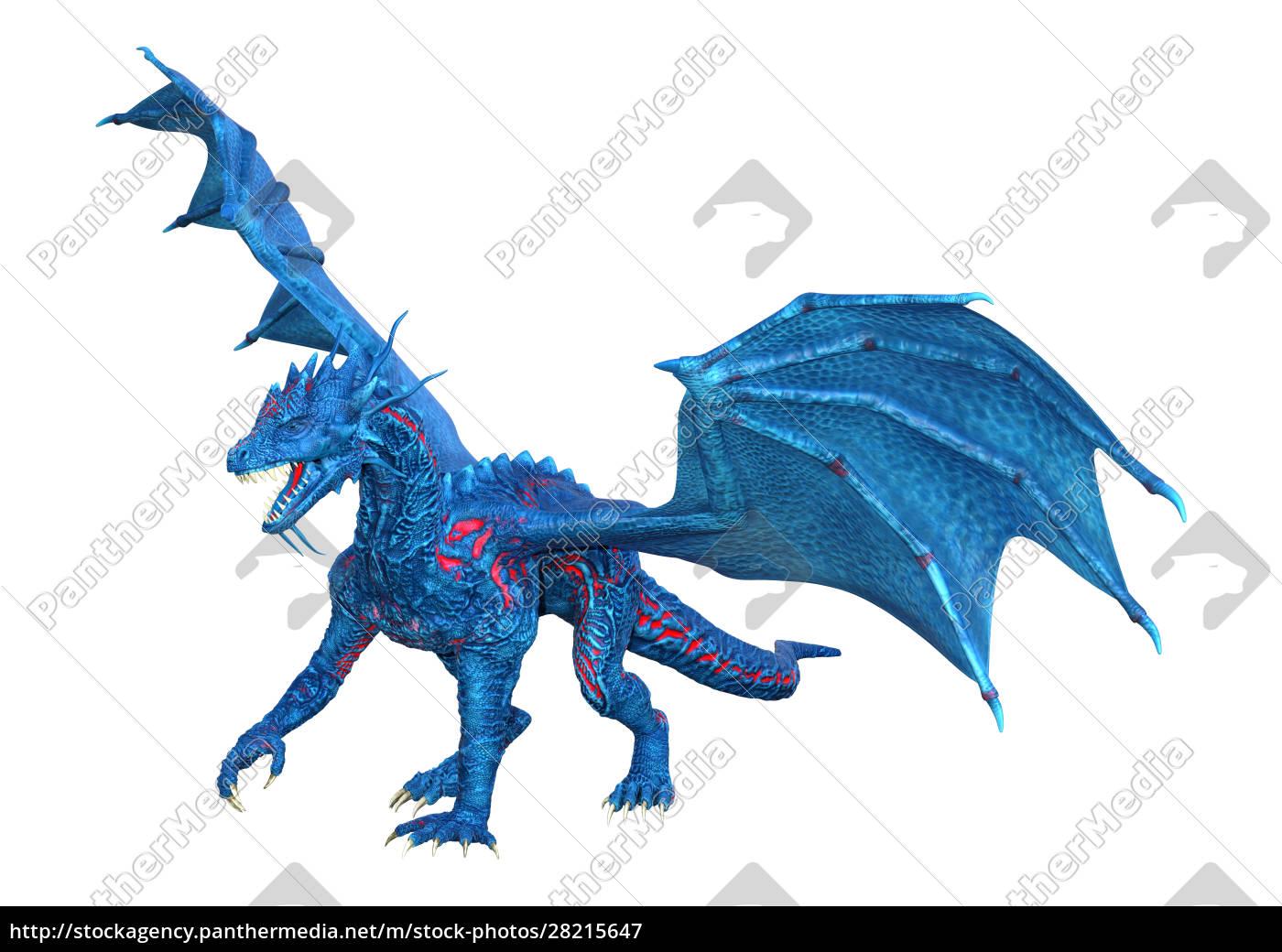 3d, rendering, fairy, tale, dragon, on - 28215647