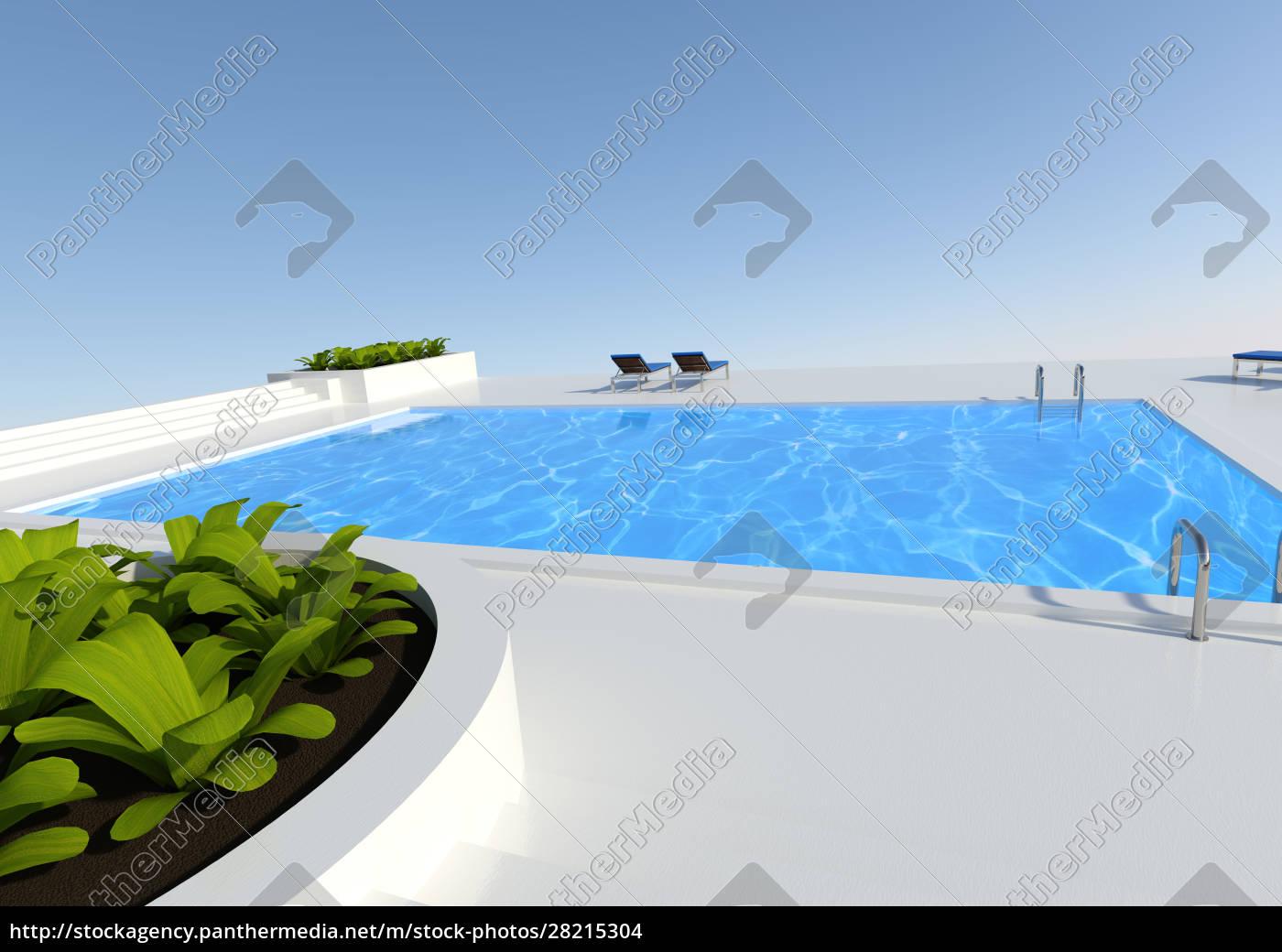3d, rendering, pool, outside - 28215304
