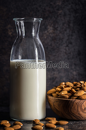 almonds, nuts, and, almond, milk. - 28215599