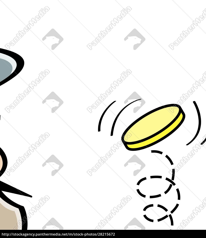 cartoon, illustration, of, a, tough, guy - 28215672