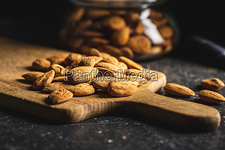 dried, almond, nuts. - 28215590