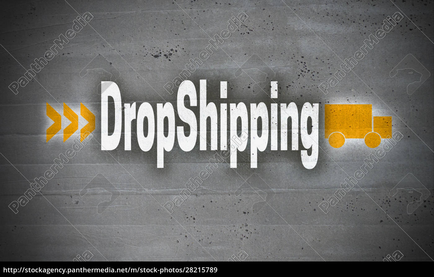 dropshipping, on, concrete, wall, background - 28215789