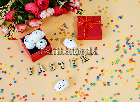 festive, easter, card, with, a, bouquet - 28215691