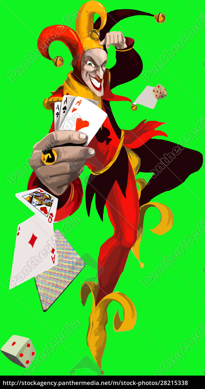 joker, card, game, clown, strategy, illustration - 28215338