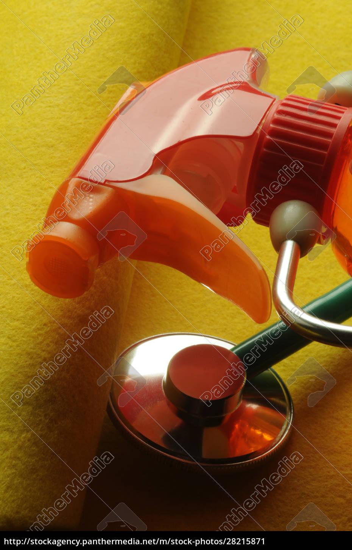 liquid, detergent, bottle, with, stethoscope - 28215871