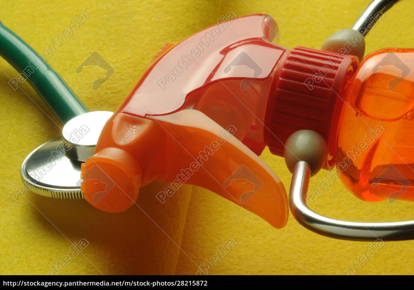 liquid, detergent, bottle, with, stethoscope - 28215872
