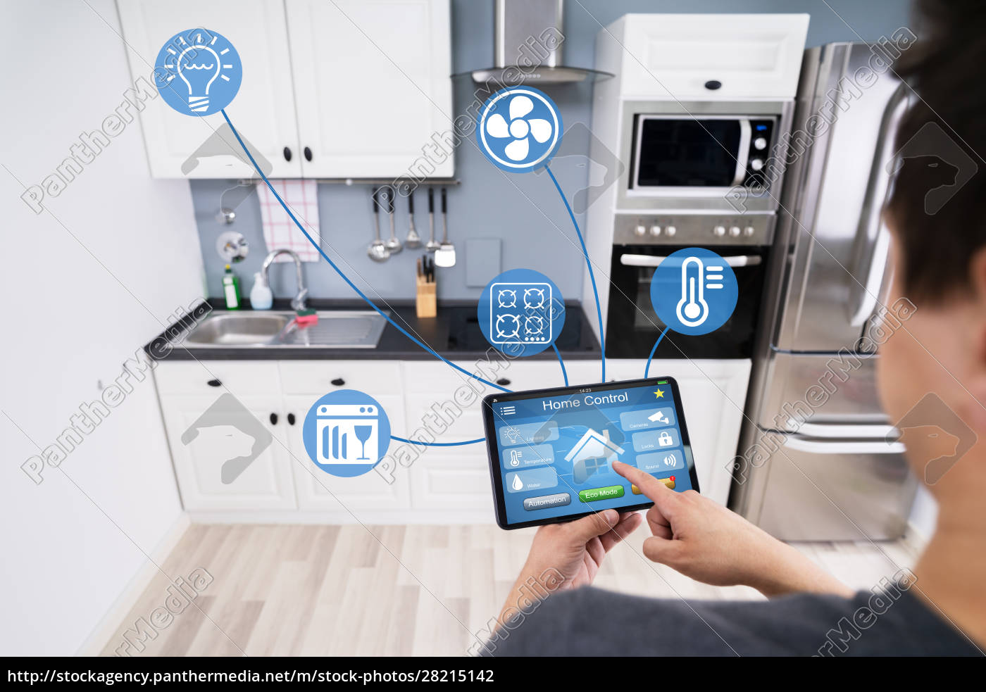 person, using, smart, home, application, on - 28215142