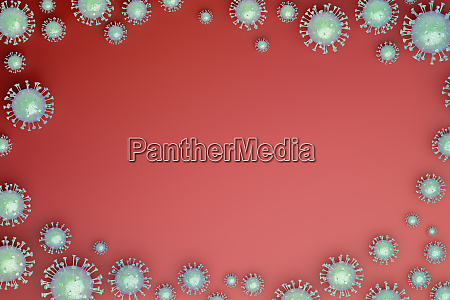 red, background, with, viruses - 28215785